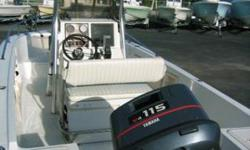 This is a great boat ! Yamaha 115hp, Stainless Steel 3-Blade PropCenter Console, T-Tops with newer Canvas2012 Magic-Tilt Trailer included, 1998 Boat & MotorGPS - Color Fixed Mount w/Cartography, Fish Finder Poly Planar Stereo - AM/FM/CD player Insulated