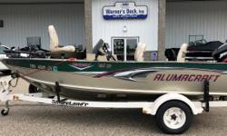 2005 Alumacraft Navigator 165 CS, 60hp Mercury 4-S EFI, Roller Trailer, Swing Tongue, Spare Tire, Load Guides, Minnkota PowerDrive 70# Trolling Motor w/ Dismount Plate & Remote, On-board Charger, Lowrance HDS 7@ Bow, Lowrance HDS 5 @ Dash, 4 Fishing