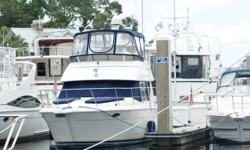 """ANCHOR MANAGEMENT is a beautifully maintained 1998 Carver 355 Motor Yacht. PowerBoat Guide describes the Carver 355-356 as """"the best-selling boat in her class."""" This boat, on her fourth owner, has been primarily kept on the St. Johns River in"""