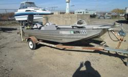 1979 BASS TRACKER HOMEMADE TRAILER (HAS REGISTRATION) 1998 40HP FORCE -3 SEATS -RUNNING LIGHTS -POWER TRIM -ELECTRIC START -LOTS OF STORAGE GREAT STARTER FISHING BOAT READY TO HIT THE WATER TODAY -M&M MARINE