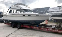 General Description A popular boat for several years, the Bayliner Contessa Command Bridge was marketed as an affordable family sedan primarily designed for coastal and inland cruising. She's built on a solid fiberglass hull with a relatively wide beam