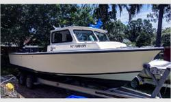 GeneralDescription The C-Hawk 25 Sport Cabin is an all around excellent boat.It's good in rough weather, it's built to commercial standards, and it offers a no nonsense approach to fishing. Actual Condition This boat features two 2004 Yamaha 130hp
