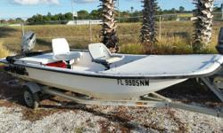 2008 Carolina Skiff J16 Tiller, 30HP Honda Tiller with power tilt and electric start, Live Well, Trailer, Very Low time on this boat and motor. $5,900.00 727-862-0776 Antonietti Marine Draft: 0 ft. 6 in. Beam: 5 ft. 4 in. Optional features: •