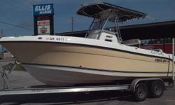 2008 Century 2301 Center Console w/ 2008 Yamaha F250Hp (800 Hours) and Tandem axle Aluminum Trailer. Options include T-top , Garmin GPs/ Depth Combo, stereo, VHF Radio. Good condition