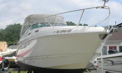 This 28'cruiser from Chaparral Boats is a classic example of what sets Chaparral apart from the competition! This wide body cruiser is equipped with all the appointments and amenities you will need for an extended cruise or an extended stay out on