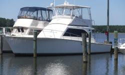 The 42 Onset Sportfisher is built on the venerable Egg Harbor design and is a solid fishing platform. Plenty of room in the cockpit, a large bridge with excellent visibility, this boat is ready for its next fishing adventure. This sportfisher has been