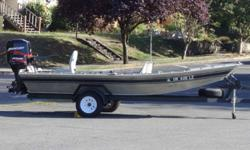 OUR 40TH ANNIVERSARY FALL CLEARANCE EVENT IS GOING ON NOW - HUGE SAVINGS! 115 Mercury Tiller Jet-drive,Oil injected,(2004)Mercury 6 ml 4-stroke tiller,Elite 7 fish finder,seats,built-in fuel tank,running lights, Custom Trailer Beam: 8 ft. 6 in. Stock