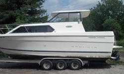 2001 Bayliner Ciera 2859 hardtop with Diesel Engine MerCruiser 4.2L/220 turbo AC. This boat is a hard to find with Diesel engine on it. This boat burns 8.3 gallons per hour of diesel fuel at wide open throttle, and with a fuel tank capacity of 108