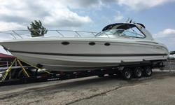 A HIGH PERFORMANCE LUXURY SPORT BOAT! A BRIGHT, AIRY, WELL LAID- OUT CABIN PACKED WITH LOADS OF AMENITIES AND LOTS OF ROOM FOR ENTERTAINING. Need TLC, Sold As-Is. Beam: 11 ft. 10 in. Stock number: 1967
