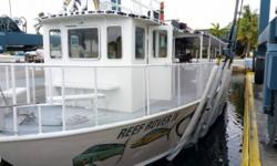 Enjoy operating your own eco-tours glass bottom boat business, thrive in the life style of greeting happy clients, and watch them leave even happier. Reef Rover IV is equipped to handle 42 passengers at a time and is set up to do Scuba & Snorkel trips.
