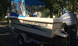 HUDSON'S Brokerage Awesome clean boat for any adventure!This vessel is nicely equipped,and powered with a Yamaha F250 with 575 hrs. and it's ready for the water and ready to fish! Hull color: WHITE Standard features: Bimini Top Enclosure Fish Finder - Max