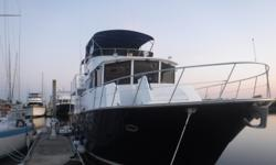 """""""Inspiration"""" is a beautiful 53 foot Jefferson Long Range Cruiser that has been meticulously maintained by a knowledgeable owner with professional marine mechanic skills. You will not find a nicer Jefferson 53 on the market. Inspiration is a serious"""