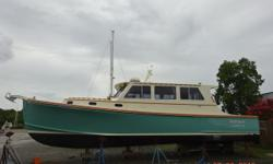 Kathleen is an extremely well-maintained 2014 38' Wesmac Downeast cruiser. She is owned by a very experienced yachtsman who clearly has spared no expense outfitting and maintaining her. She offers a Cummins 543 hp main engine, Hamilton jet, Sidepower bow