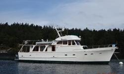 Lilliwaup is a classic 1972 54' DeFever Offshore Cruiser built by Oriental Boat Company in Yokosuka, Japan. She offers twin Caterpillar 330T main engines, two Northern Lights generators, dual Racor fuel filters with vacuum gauges, Hurricane diesel fired