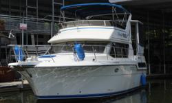 FRESH WATER ONLY!Many upgrades made to this well loved vessel. Perfect for the family that loves the water. 3 owners - original sales documents, engine manuals, and warranty card still on board. Draft: 4 ft. 0 in. Beam: 13 ft. 10 in. Displacement: 18000