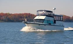 Phase Two is a 1973 38' Hatteras Double Cabin flybridge Motoryacht. She offers a full Eisenglass enclosure on the flybridge and sundeck, twin naturally-aspirated 280 hp Detroit Diesel main engines by Johnson & Towers, dripless shaft seals, spare