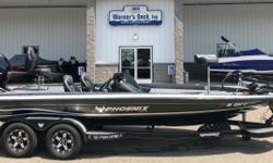 "2015 Phoenix 920 Pro XP SC, Mercury 250hp Optimax Pro XS, SS Prop, Hydraulic Steering, Atlas 10"" Hydraulic Jack Plate, Hot Foot Throttle, Custom Tandem Axle Bunk Trailer, Brakes on Both Axles, Shocks, Swing Tongues, Spare Tire, Velocity Wheel Upgrade,"