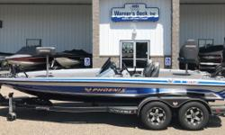 "2014 Phoenix 920 Pro XP DC (Removable Dual Console), Mercury 250hp Optimax Pro XS, SS Prop, Hydraulic Steering, 10"" Hydraulic Jack Plate, Hot Foot Throttle, Custom Tandem Axle Bunk Trailer, Brakes on Both Axles, Swing Tongue, Spare Tire, Ratchet Tie"