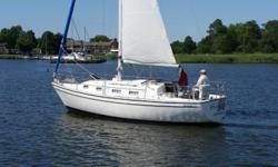 Simply put, the Pearson 303 sloop is a well-built cruiser and PLAYMAKER is an excellent example of this classic. She performs well under sail with her masthead sloop configuration and a 24hp Yanmar diesel engine offers ample auxiliary power when needed.