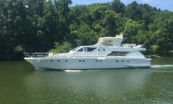 REDUCED PRICE $275,000.00 1985 Guy Couach Cockpit Motor Yacht HULL MATERIAL:Kevlar reinforced fiberglass) BRAND NEW ANTIFOULING BOTTOM PAINT AND UNDERWATER GEAR INSPECTION! ? DIMENSIONS LOA: 72 ft. Beam: 16 2 Draft: 6 2 Weight: 100,000lbs ? ENGINES: Twin