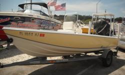 Stop wasting your days on land! Come get out in the water this 16ft flats boats. This boat is perfect to go fishing with a friend. There?s a power pole shallow water anchor, trim tabs, jack plate, poling platform, live well with seawater and recirculating