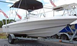 This mostly fresh water Sea Fox is designed to run inshore, offshore and in most conditions. Backed by dependable Suzuki power , this all composite hull is destined to be going strong many years from now. In good condition, and ready to go. The wide open