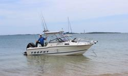 Bayliner Trophy 20 1997 This great all around boat is ready for the sounds, rivers, and coastal fishing. 2016 Mercury 150 hp 4 stroke equipped with Stingray XR3 senior hydrofoil under warranty makes it ready to move. Very well maintained, by a proud owner