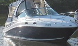 2008 Sea Ray 260 Sundancer Beautiful 2008 Sea Ray 260 Sundancer and in great condition 28 feet in overall length Sleeps 4 comfortably within as well! White fiberglass hull with a Beige interior decor Equipped with a 350hp Single MerCruiser motor Currently