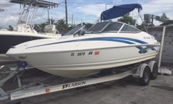REDUCED FROM 15k TO CLEARANCE SALE PRICE $10,895 2008 Larson Senza 186 Volvo Penta 5.0L GL low hrs. Stereo System Bimini Top