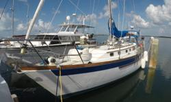 A strong, seaworthy, ocean crossing 42 Passport rig and ready to sail. Boasting a huge 6 foot 5 inches of headroom this 42 is massive on the inside. The boat is very clean and well kept, woodwork and craftsmanship below are beautiful. So Bella is a