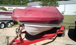 Great little ski boat with enough power to bring your friends with. Has all the covers and ski ropes. Powered by a Mercruiser 4.3lt V-6. Motivated seller. Can be ready for Labor Day Holiday. Hull color: Red Stock number: Gustavson Boat cover; Bimini top;
