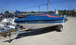 With a V-8 motor in this bowrider, you can ski and tube with the whole family along. Interior is in nice shape for the year of the boat. Ski equipment and a full gas tank are included. Fun for the Holiday. Hurry in!!!!! Hull color: Blue Stock number: