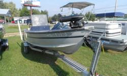 Nice side council fishing boat.Older 70hp johnson motor really moves this boat along.The boat comes with a locator,minnkota 55pd trolling motor,3 seats and a cover. Spartan roller trailer with side load guides also. Fuel tank capacity: 6 Stock number: UB