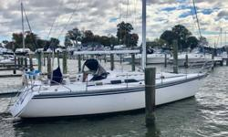 Windancer is a fine example of Hunter's highly popular 34 model, with over 800 hulls built in just over 3 years. When introduced the 34 was light years ahead of previous models in terms design and workmanship. Driven by a large rig, the 34 is a fast club